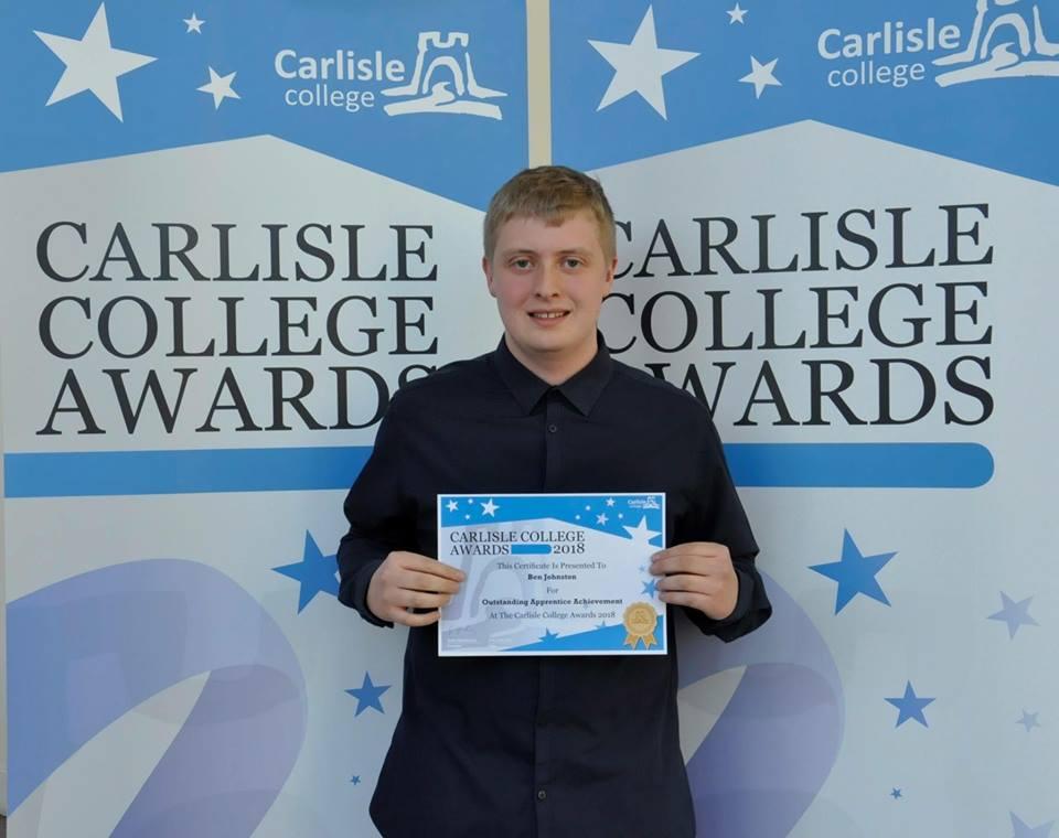ben johnson apprenticeship achievement 2018