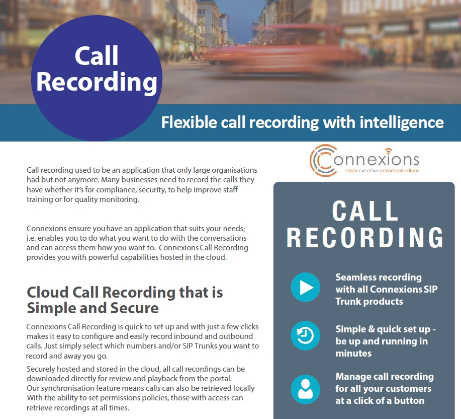 call recording in the cloud